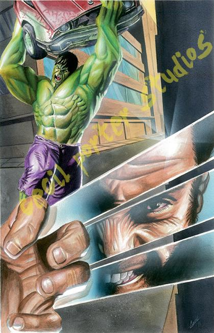 Cecil Porter - hulk vs wolverine